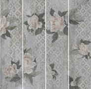 SG704500R Поджио Цветы серый светлый обрезной 20х80х11