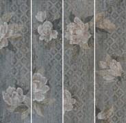 SG704600R Поджио Цветы серый обрезной 20х80х11