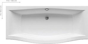 Ванна MAGNOLIA 180x75 белая