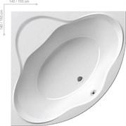 Ванна NEW DAY PU-PLUS 150x150 белая