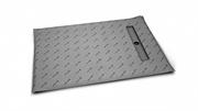 Прямоугольные душевые плиты для укладки толщиной от 8 до 12 мм c линейным трапом вдоль короткой стороны