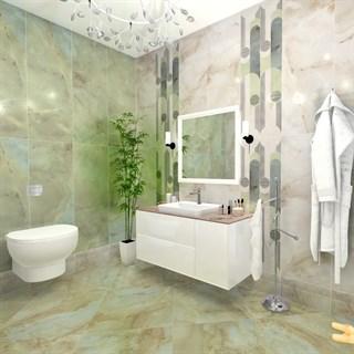 """Проект №1036. Ванная комната в современном стиле """"Весеннее утро"""""""