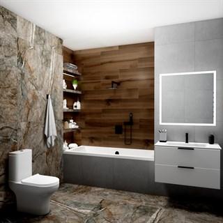 """Проект №1047. Ванная комната в апартаментах""""Мужской стиль"""""""