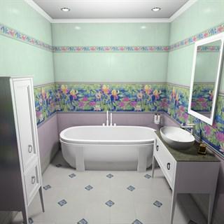 """Проект №1108. Ванная комнатав стиле неоклассика """"Сад Моне"""""""