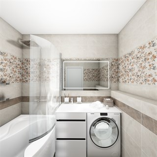 "Проект №237. Ванная комната в стиле неоклассика ""Каменный цветок"""