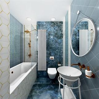 """Проект №260. Ванная комната в синих оттенках """"Единение"""""""