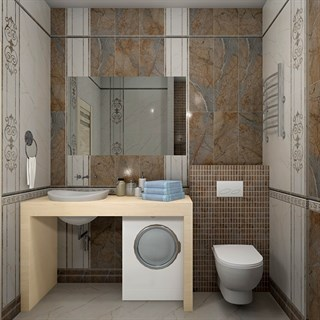 "Проект №873. Ванная комната внеоклассическом стиле ""Аристократ"""
