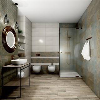 """Проект №1033. Ванная комната в стиле эко-лофт """"Рамбла"""""""