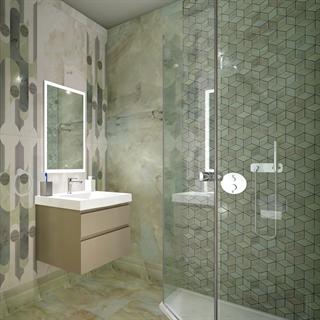 """Проект №868. Ванная комнатав стиле неоклассика """"Джардини"""""""