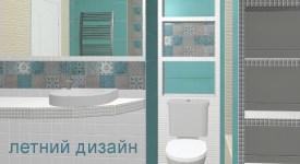 Летнее настроение в интерьере ванной комнаты