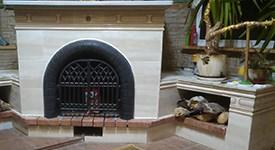 Реставрация камина керамической плиткой