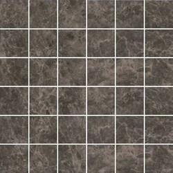 MM5249 Декор Мерджеллина коричневый тёмный полотно 30,1х30,1х7 - фото 24011