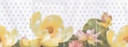 HGD/A56/4x/8259 Панно Летний сад светлый, панно из 4 частей 20х30 (размер каждой части) 80х30х6,9 - фото 24425