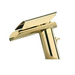 Смеситель золотой Paini Morgana 73OP211 для раковины - фото 27998