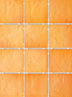 1145 Юката оранжевый, полотно 30х40 - фото 5915