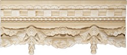Cornisa Garland Cream 13x30 - фото 6924