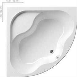 Ванна GENTIANA 140x140 белая - фото 7736