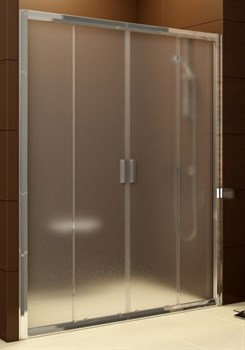 Дверь душевая Ravak BLDP4  - 130 сатин + Грапе - фото 7955