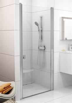 Дверь душевая Ravak CSD1-80 белый+стекло Transparent - фото 8072