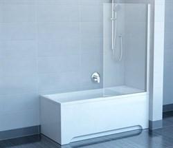 шторки для ванн CVS1-80 R  белый+стекло Transparent - фото 8142