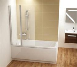шторки для ванн CVS2-100 L  белый+стекло Transparent - фото 8145