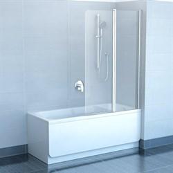 шторки для ванн CVS2-100 R  белый+стекло Transparent - фото 8148