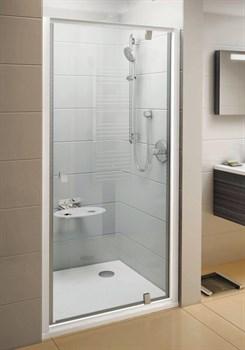 Дверь душевая Ravak PDOP1-90 белая/белая + Траспарент - фото 8183