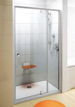 Дверь душевая Ravak PDOP2-110 белая/белая + Транспарент - фото 8189