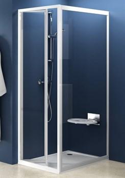 стенки душевые  PSS-80 белая+Транспарент - фото 8208