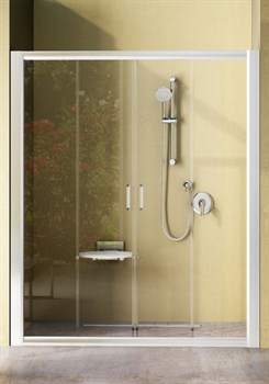 Дверь душевая Ravak NRDP4-140 белая + Транспарент - фото 8272