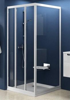 стенки душевые  APSS-90 белая+Тpанспаpент - фото 8436