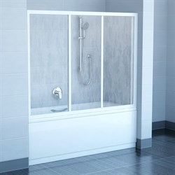 шторки для ванн AVDP3-150 белая+Тpанспаpент - фото 8531