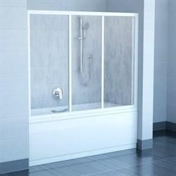 шторки для ванн AVDP3-180 белая+Тpанспаpент - фото 8549