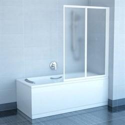 шторки для ванн VS2 105 белая + Транспарент - фото 8557