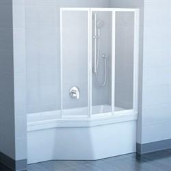 шторки для ванн VS3 100 белая + Транспарент - фото 8562