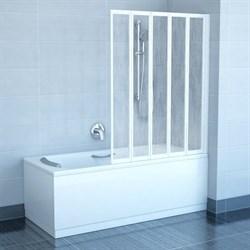 шторки для ванн VS5 белая+Раин - фото 8577