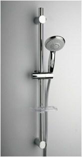 50CR124/FBL Душевая стойка с лейкой, шлангом, мыльницей. крепеж 560 мм, D 25, 3 вида струи - фото 9232