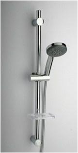 50CR124/CBL Душевая стойка с лейкой, шлангом, мыльницей. регулируемый крепеж 500-670 мм,D25, 5 видов струй - фото 9233