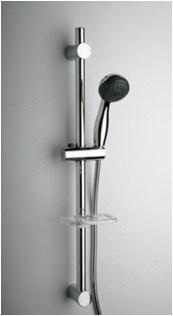 Душевая стойка с лейкой, шлангом, мыльницей 50CR124/ABL . регулируемый крепеж 500-670 мм, D25, 3 вида струи - фото 9235
