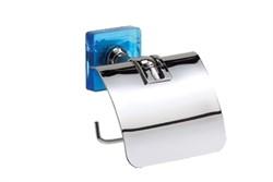 Держатель для туалетной бумаги Kubik синий - фото 9306