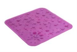 Коврик для душа Drops 53x53 см. Фиолетовый - фото 9309