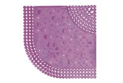 Коврик для душа Drops 60x60 см. Розовый - фото 9311
