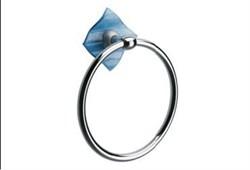 Кольцо для полотенец Glass синий - фото 9313