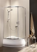 Radaway Полукруглые двухдверные асcиметричные душ. кабины Premium Plus E арт.30481-01-02N сатин