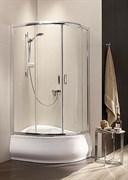 Radaway Полукруглые двухдверные асcиметричные душ. кабины Premium Plus E арт.30483-01-02N сатин