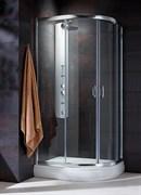 Radaway Полукруглые двухдверные асcиметричные душ. кабины Premium Plus E арт.30491-01-02N сатин