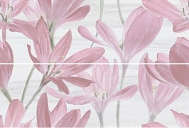 13012R/A/B/3F Панно Сады Форбури Крокус розовый обрезной 60х89,5х11