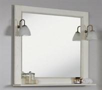 Набор: Зеркало Жерона 105 бел.серебро/светильн.