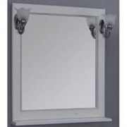 Набор: Зеркало Жерона 85 бел.золото/светильн.