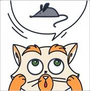NT/A132/5009 Декор Кошки-Мышки  Мышка 20х20